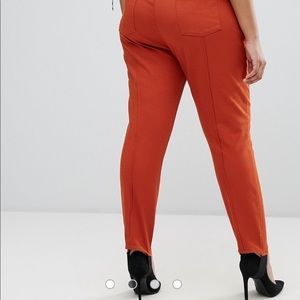 Strirrup Washed Trouser - Rust Asos Curve 3y1jUBdX4